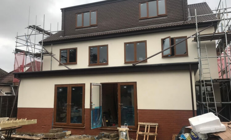 Insulation of external walls